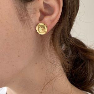 Michael Kors MK Button Gold Stud Earrings